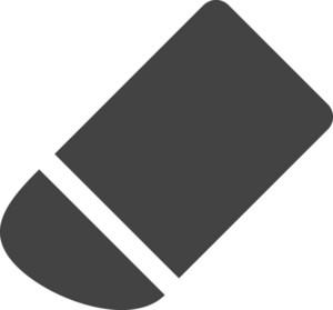 Erase Glyph Icon