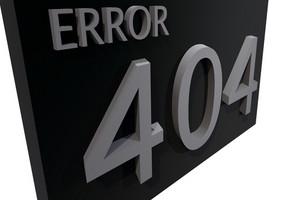 Error 404 Black Sign
