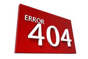 Error 404 Red Sign