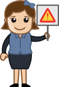 Error Sign - Cartoon Bussiness Vector Illustrations