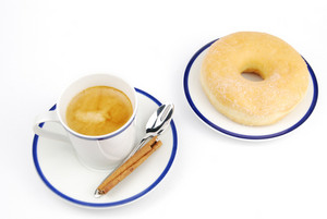 Espresso Coffee And Donut