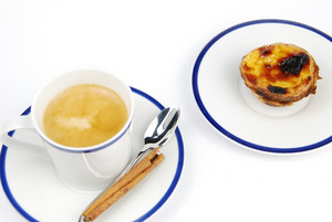 "Espresso Coffee And ""pastel De Nata"""