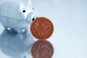 Euro And Piggy Bank