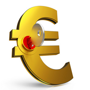Euro Key Shows Savings And Finance