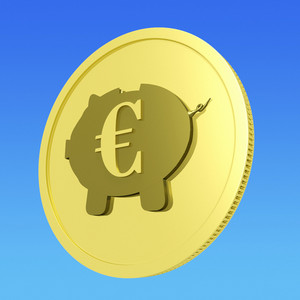 Euro Piggy Coin Shows European Banking Status