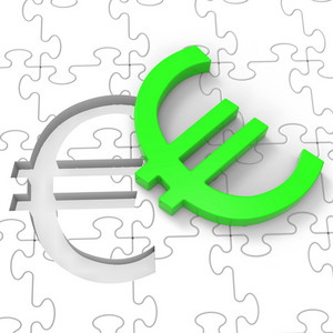 Euro Puzzle Showing European Investments