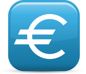 Euro Sign Elements Glossy Icon
