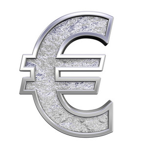 Euro Sign From Chrome Cast Alphabet Set