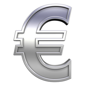 Euro Sign From Chrome With Frame Alphabet Set