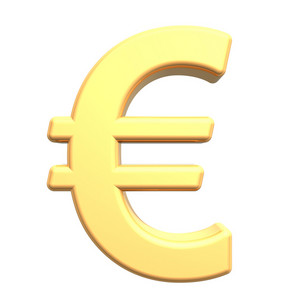 Euro Sign From Gold Alphabet Set