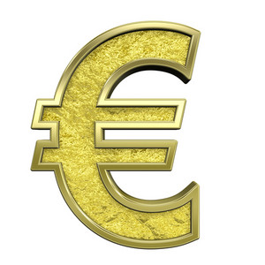 Euro Sign From Gold Cast Alphabet Set