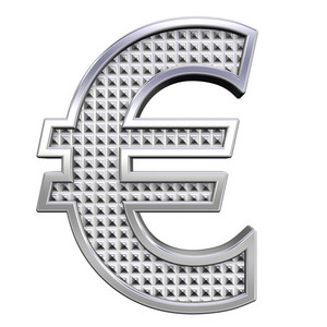 Euro Sign From Knurled Chrome Alphabet Set