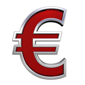Euro Sign From Ruby With Chrome Frame Alphabet Set