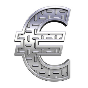 Euro Sign From Steel Tread Plate Alphabet Set