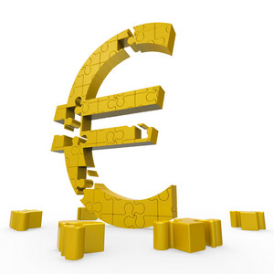Euro Sign Shows Money Investment In Europe
