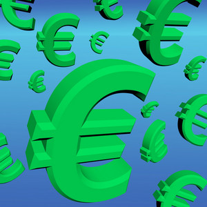 Euro Signs As Symbol For Money Or Wealth