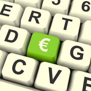 Euro Symbol Computer Key Showing Money And Investment