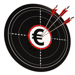 Euro Target Shows Wealth Currency And Prosperity