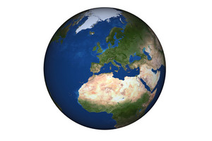 Europe Globe Isolated