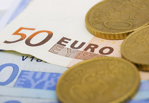 Euros Cash And Coins For Spending