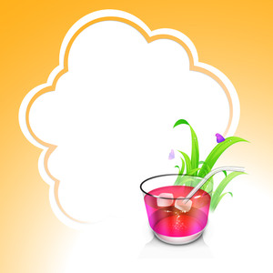 Evening Summer Concept With Cold Drinks On Cloud Background.