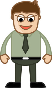 Evil Office Person - Business Cartoon Character Vector