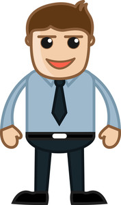 Evil Salesman - Business Cartoon Character Vector