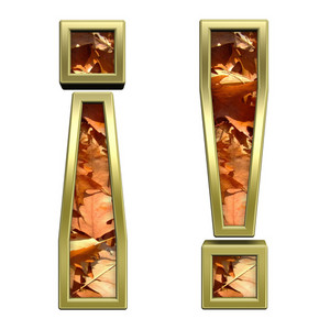 Exclamation Mark From Autumn Gold Alphabet Set