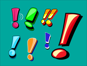 Exclamation Mark Vector Set