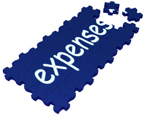 Expenses Puzzle Showing Invoices And Payment