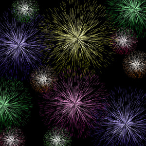 Exploding Fireworks Background For Holiday Or Independence Celebrations