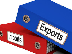 Export And Import Files Showing International Trade Or Global Commerce