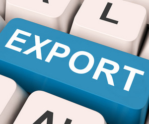 Export Key Means Sell Abroad Or Trade