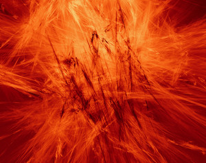 Extreme Hot Abstract Space Background