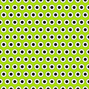 Eyeballs Pattern On Green Monster Paper