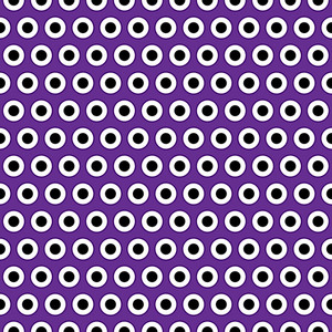 Eyeballs Pattern On Purple Monster Paper