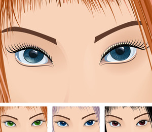Eyes. Vector.