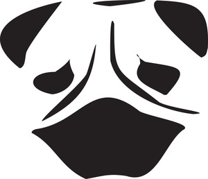 Face Of A Pug Dog.