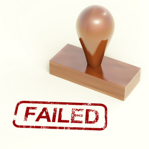 Failed Stamp Showing Reject And Failure