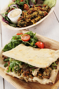 Falafel Wrap And Salad