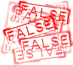 False Rubber Stamp Print. Vector Illustration
