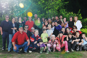 Family group portrait outdoor