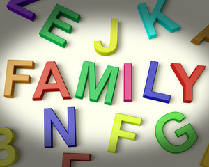 Family Written In Plastic Kids Letters