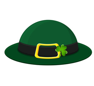Fancy Leprechaun Hat With Clover Vector