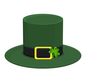 Fancy Leprechaun Hat With Shamrock