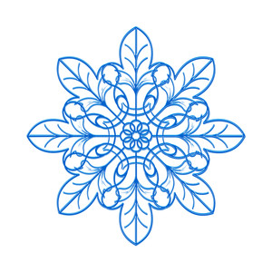 Fancy Snowflake Vector