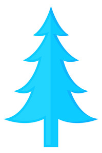 Fantasy Blue Christmas Tree Design
