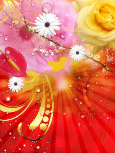 Fantasy Flowers Background