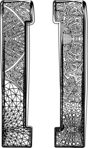 Fantasy Font. Vector Illustration