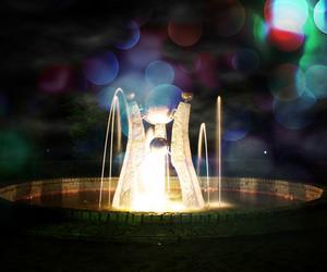 Fantasy Fountain Background
